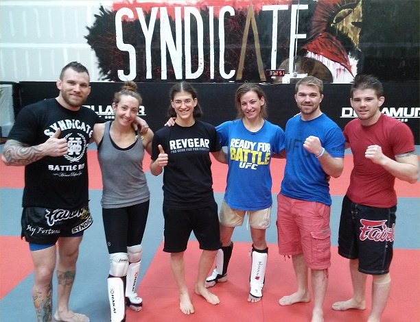 syndicate sparring with miesha and coaches