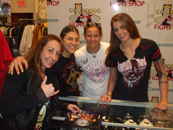 heather came to lv fight shop