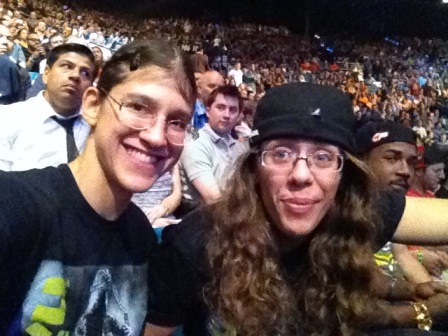 roxy and serena in the crowd ufc 173