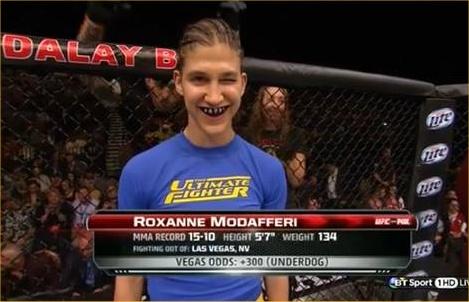 roxy winking UFC