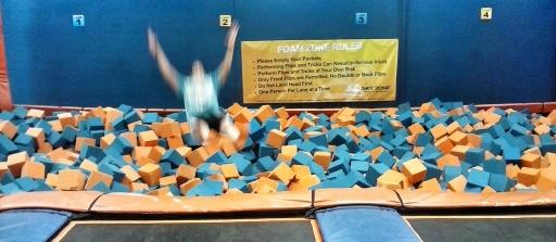 roxy jumping in foam pit2