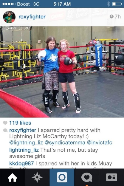 roxy and liz after sparring2