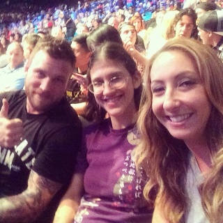 john and roxy and healther at ufc
