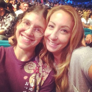 roxy and heather at ufc