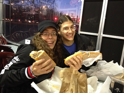 cheesesteaks with serena