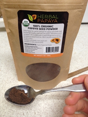 herbal papaya seed powder