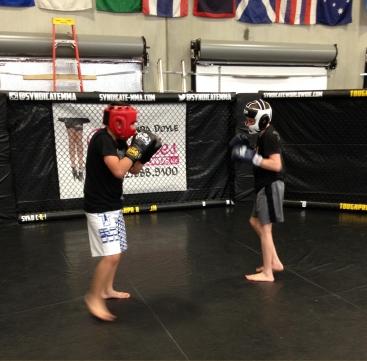 teens class 3 sparring