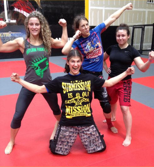 post sparring pose