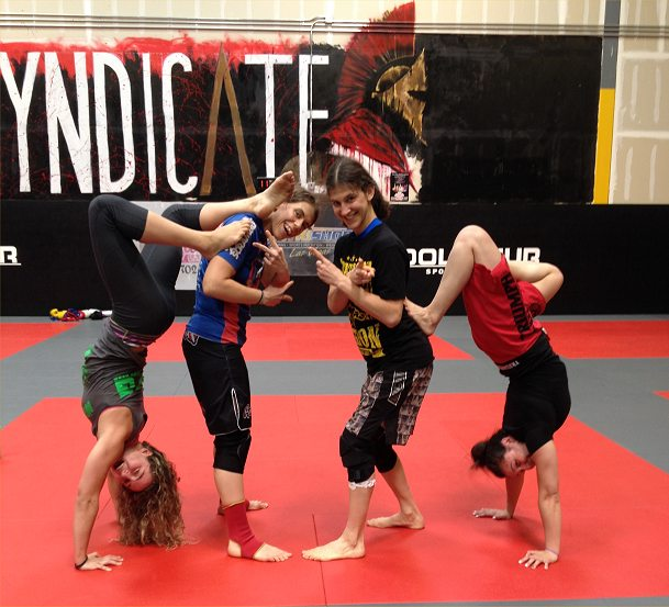 weird post sparring pose