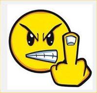 smile middle finger