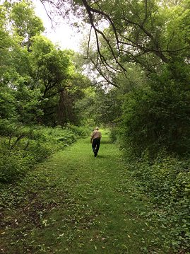 uncle fran walking in nature