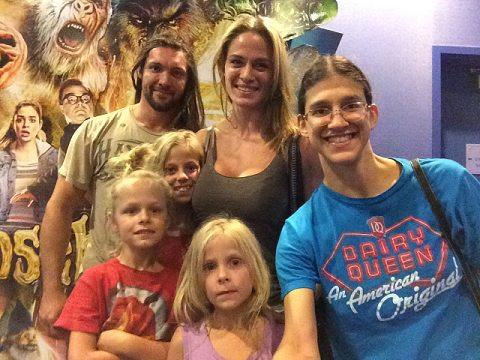 hoy family at movies