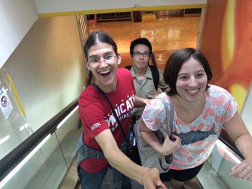 selfie stick fun with lauren