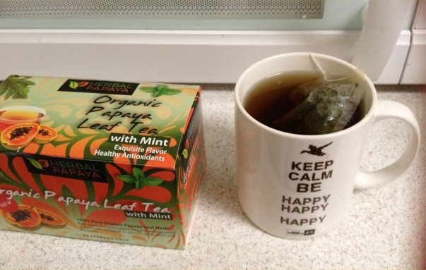 herbal papaya with mint tea 2